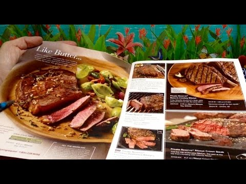 Flipping Thru Omaha Steaks Catalog, July 4th, 🍽🇺🇸🍽 Chewing Gum, ASMR, Soft Spoken, Comments