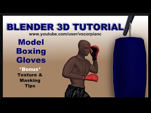 Blender 3d Tutorial - How to Model Low Poly Boxing Gloves by VscorpianC