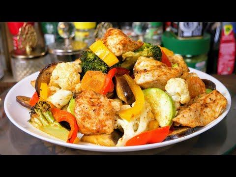 Да простят меня ДИЕТОЛОГИ, но я выдам этот рецепт. Куриная грудка с овощами. Цыганка готовит.