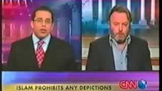 Hitchens schools a Muslim on free speech