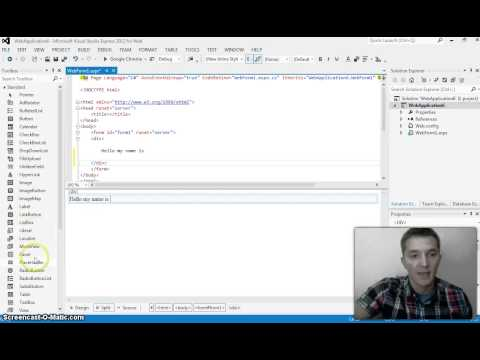 Create a Single Page Web Application using C#