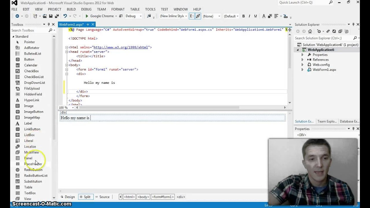 Webbrowser control in c# and windows forms.