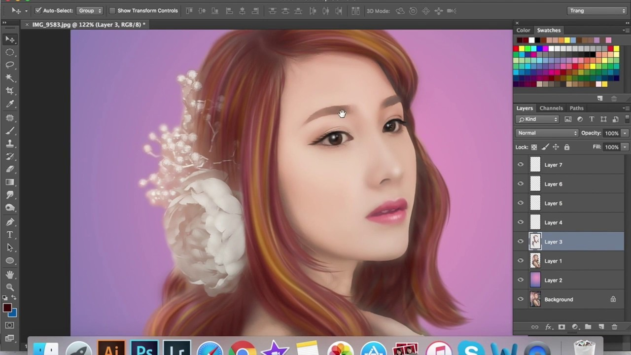 How to draw Digital Painting from a Photo – Photoshop Tutorial #1