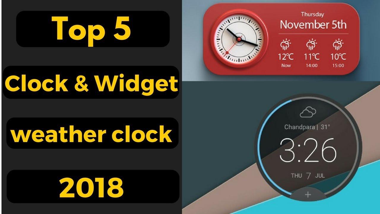 Best Andriod Clock Widgets and Weather Clock Apps 2018