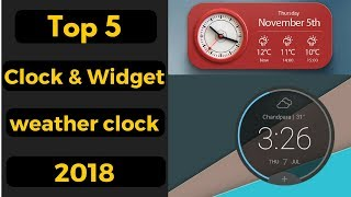 Best Andriod Clock Widgets and Weather Clock Apps 2018 screenshot 5
