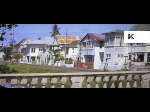 1960s Georgetown Guyana Local Caribbean Life 16mm Colour Home