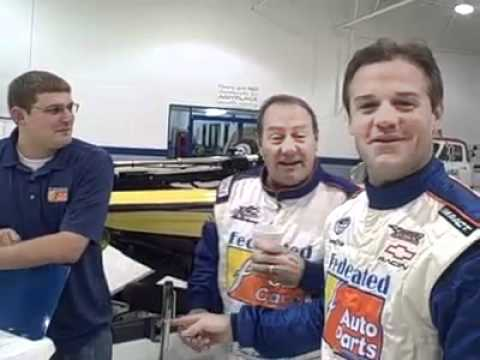 Kenny Wallace and Ken Schrader Doing a Federated Auto Parts commercial