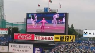 進撃の巨人 始球式 ヤクルト対巨人 2018-7-11
