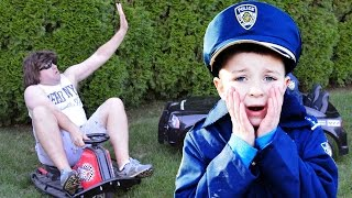 BAD Criminal STEALS Razor Crazy Cart escapes jail IRL with Officer Ryan and Smalls! Funny Kids video