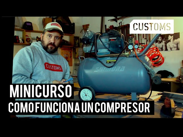 Como funciona un compresor de aire | MINICURSO | CUSTOMS