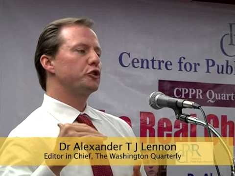 Dr Alexander T J Lennon, Chief Editor, Washington Quarterly at CPPR Quarterly Lecture Series