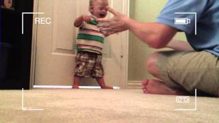 Baby With Down Syndrome Taking His First Steps!