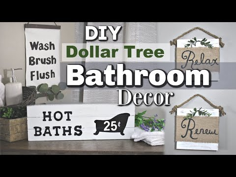 Dollar Tree Farmhouse Bathroom Decor | DIY Bathroom Dollar Tree Decor | Krafts by Katelyn