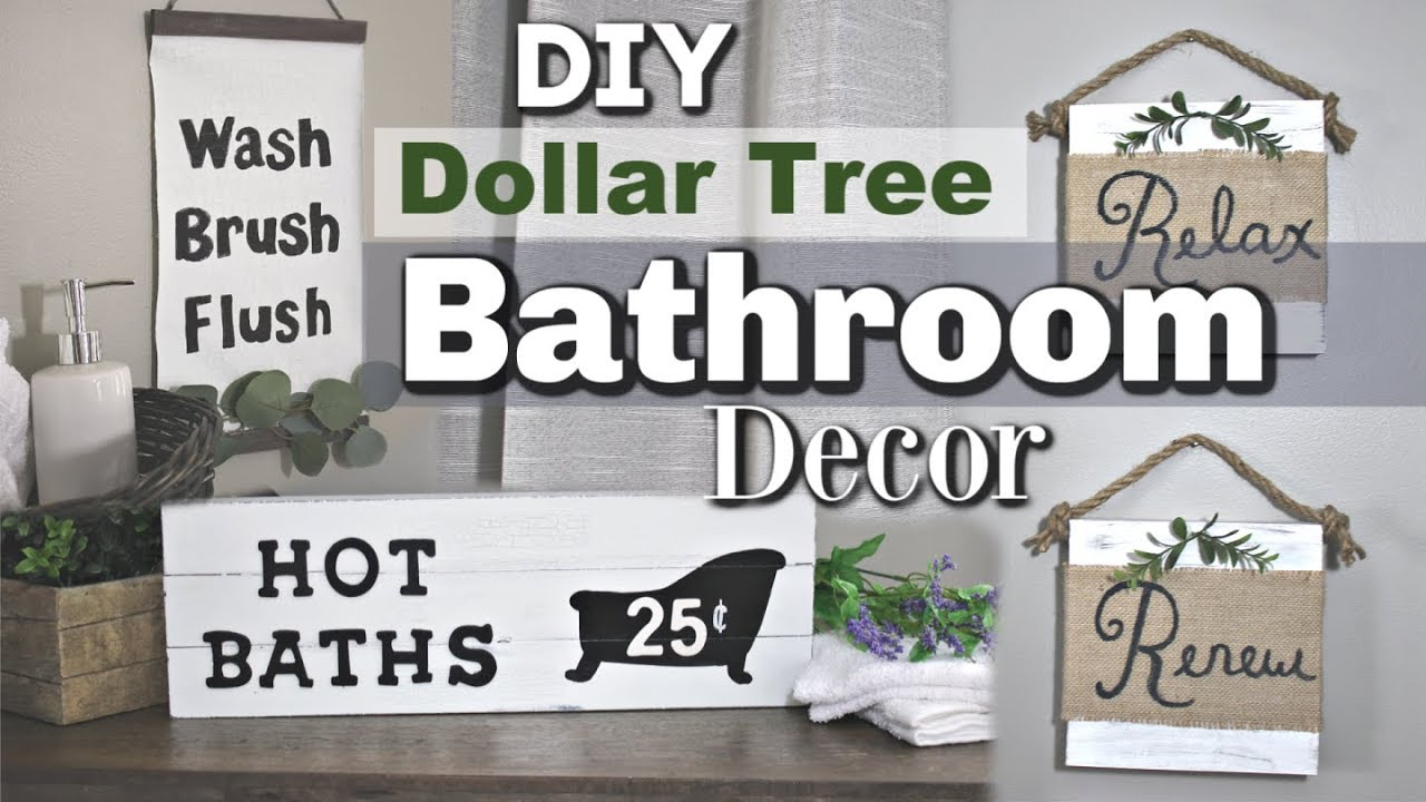 Dollar Tree Farmhouse Bathroom Decor Diy Bathroom Dollar Tree Decor Krafts By Katelyn Youtube