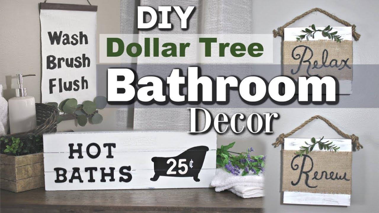 Dollar Tree Farmhouse Bathroom Decor  DIY Bathroom Dollar Tree Decor   Krafts by Katelyn
