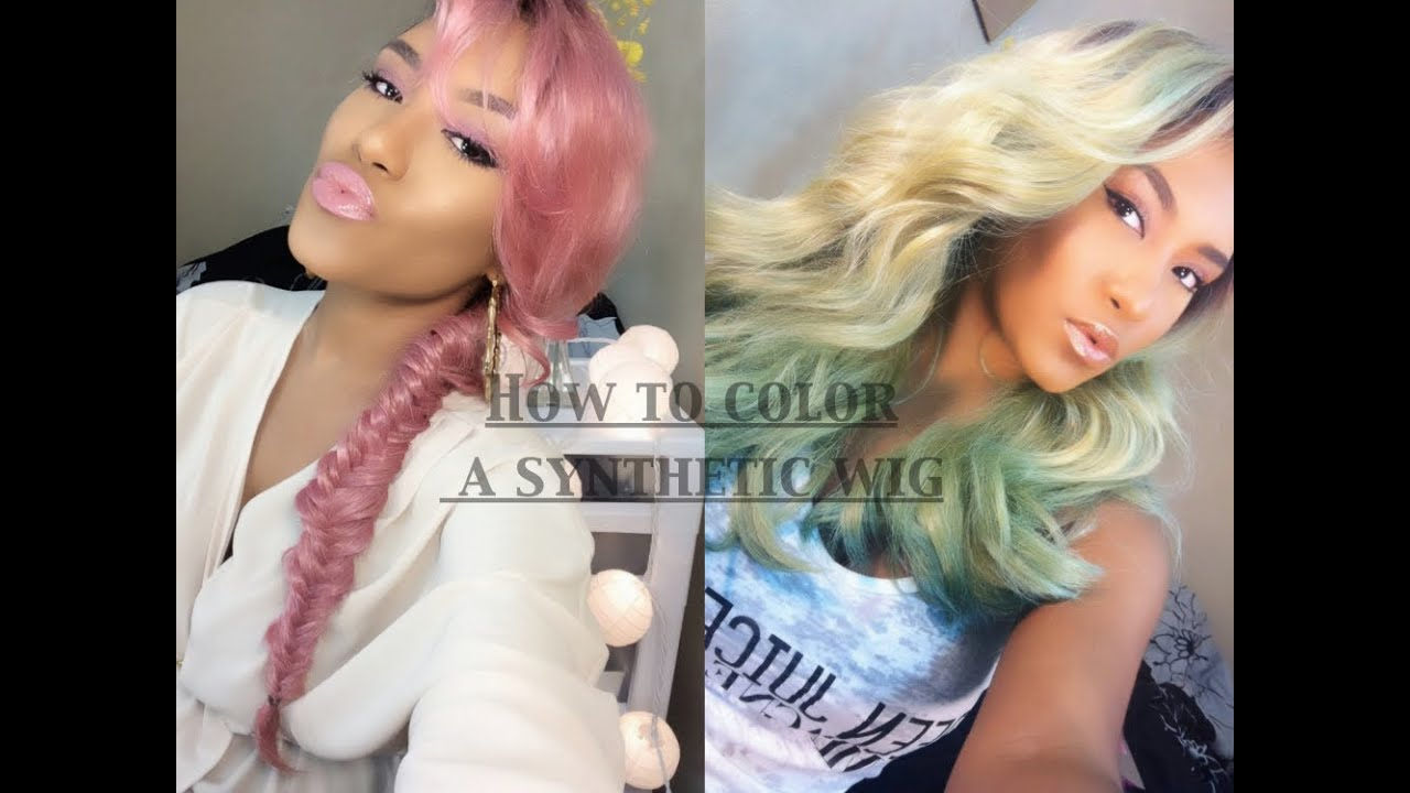 D.I.Y | How to Color A Synthetic Wig | Less Than 10mins - YouTube