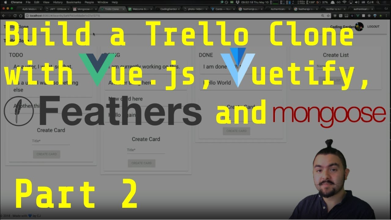 Build a Trello Clone with Vue js/Vuetify js and Feathers js - Part 2