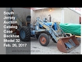 February 26, 2017 Catalog Blue Case Model 32 Backhoe - South Jersey Auction