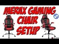Merax High Back Ergonomic Leather Racing Gaming Chair