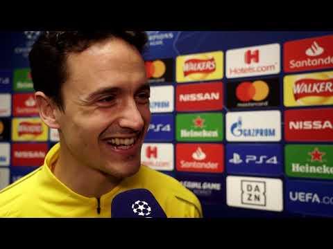 Thomas Delaney und Lucien Favre im DAZN Interview vor Tottenham vs Dortmund