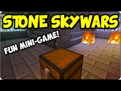 Minecraft PS3, PS4 Epic Stone Skywars - Funny Multiplayer Mini Game - Playstation 4 Console Edition