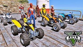 CARROS Blazer na Rampa! Competição de Saltos com Homem Aranha e Heróis - GTA V Mods - IR GAMES