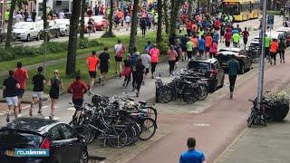 Bizarre beelden: marathon Utrecht loopt helemaal in de soep