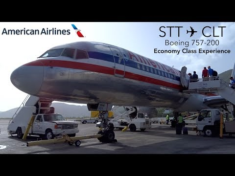 TRIPREPORT | American Airlines | St. Thomas to Charlotte | Boeing 757-200 | Economy Class Experience