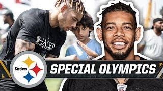 Joe Haden visits Special Olympics World Games as Global Ambassador | Pittsburgh Steelers