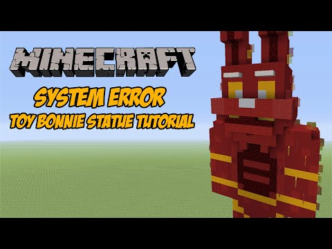 Minecraft Tutorial: System Error Toy Bonnie (FNAF AR: Special Delivery) Statue
