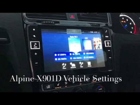 alpine x901d g7 menu car set up youtube. Black Bedroom Furniture Sets. Home Design Ideas
