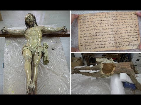 Mysterious Note Found Inside An 18th Century Jesus Statue's Bottom
