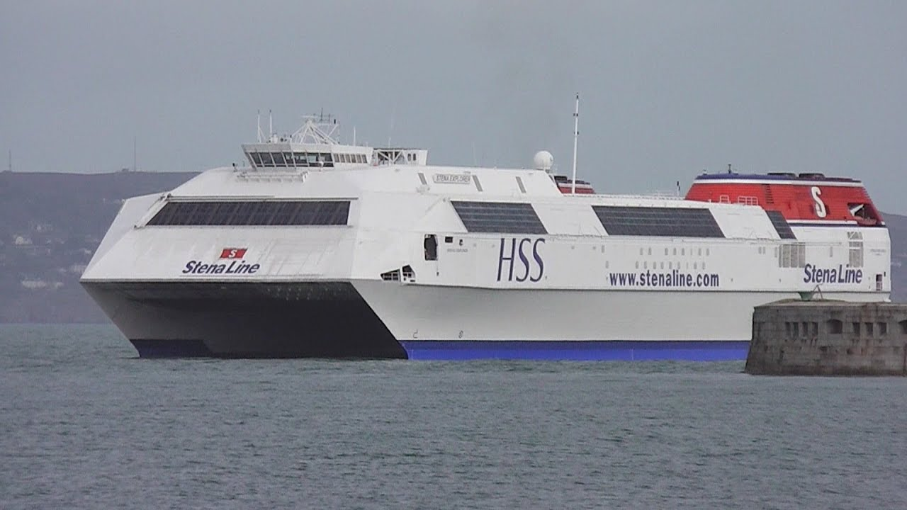 World's Biggest Fast Ferry - Stena Explorer HSS - YouTube