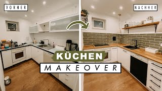 EXTREME KÜCHEN MAKEOVER - DIY Transformation | Küche renovieren + Fliesenspiegel | EASY ALEX