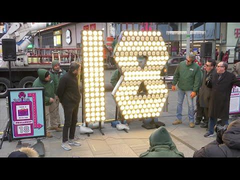 Times Square NYE 2018 Numbers Arrive