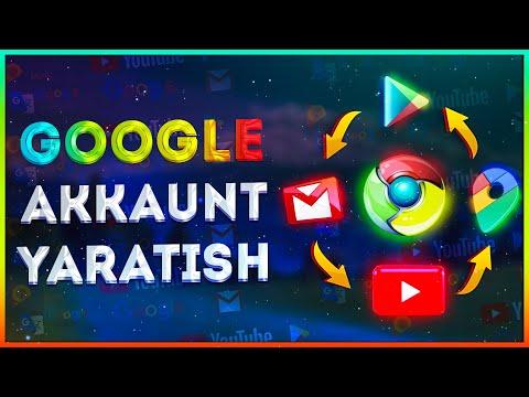 PLAY MARKET YOU TUBE Ochish Google Ga Akkount Kiritish
