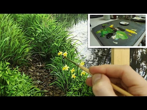 90 How To Paint Grass And Daffodils Oil Painting