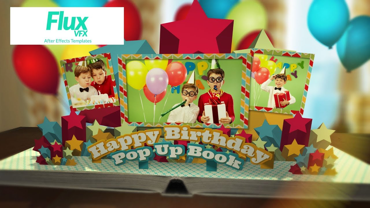 Happy Birthday Pop Up Book After Effects Template YouTube