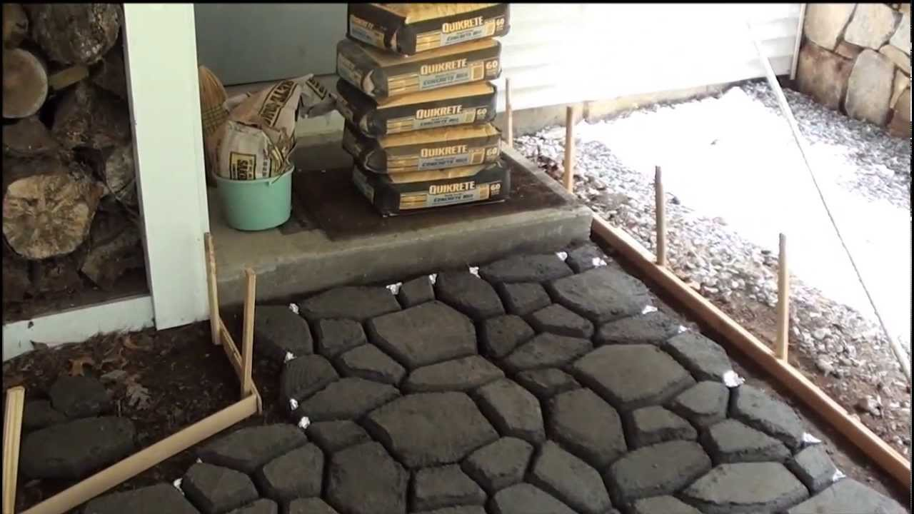 Cobblestone Walkway Installation June 2011   YouTube