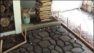 QuikRete WalkMaker Make Your Own Brickform Mold Concrete Walkway Patio ...