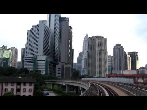 Malaysia, Kuala Lumpur, Skyline view from metro