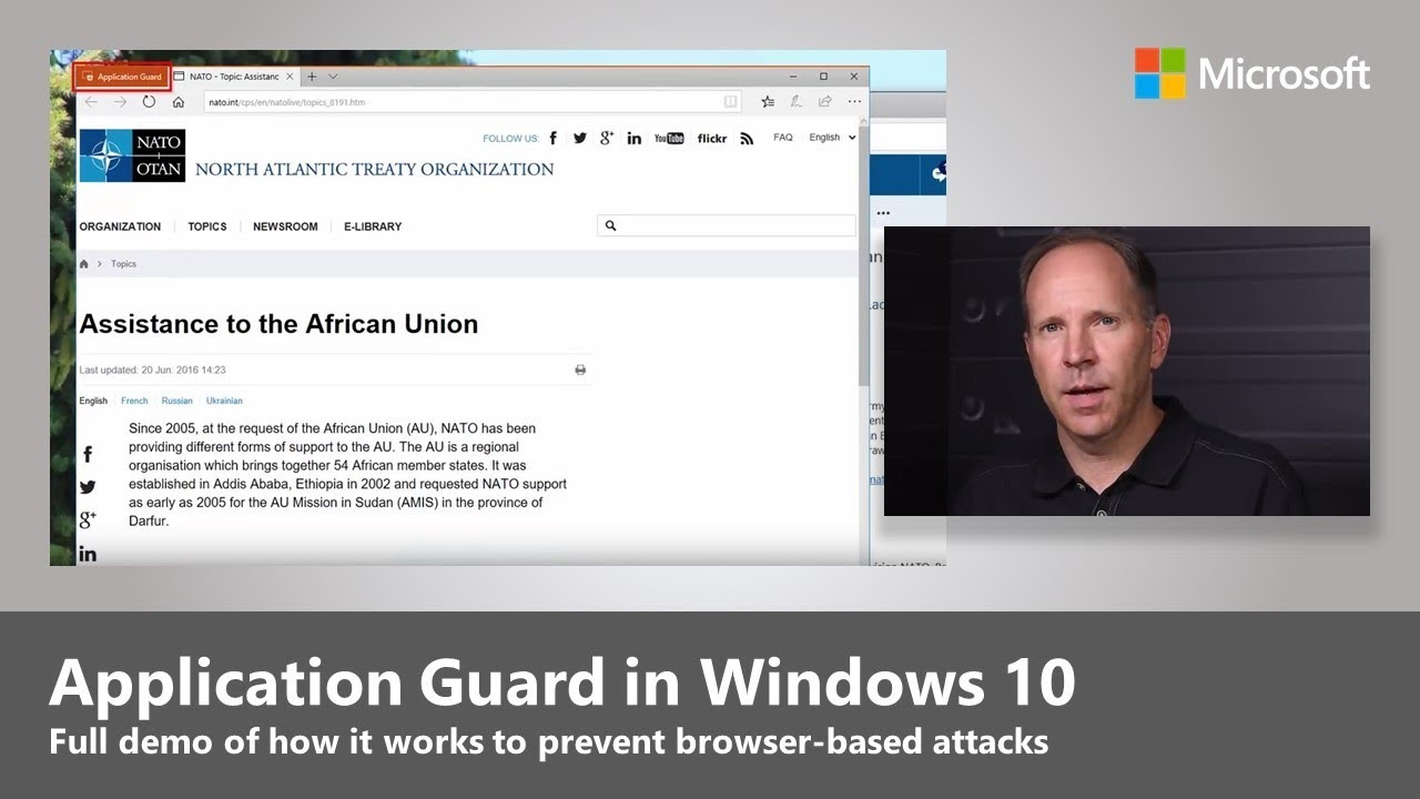 Preventing browser-based attacks with Windows Defender Application Guard