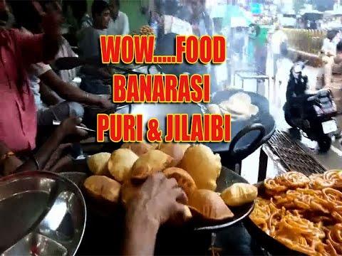 Walking in Varanasi ghat/Famous banarasi food/street food in banaras/testy puri & jilaybi