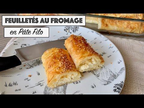 recette---feuilletÉs-au-fromage---pÂte-filo