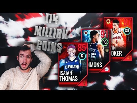 114 MIL COIN NBA LIVE MOBILE SHOPPING SPREE!!
