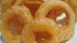Crisp Fried Beer - Battered Onion Rings - How To Make Onion Rings Recipe