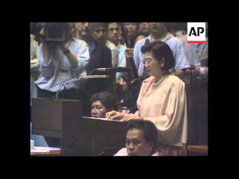 PHILIPPINES: IMELDA MARCOS TAKES OATH AS MEMBER OF CONGRESS