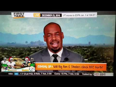 ESPN FIRST TAKE -- Max Kellerman Mic Slip -- Hate Donovan McNabb???