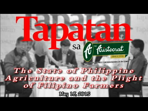 State of the Philippine Agriculture