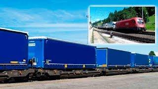 Transportation carry of trailer on railway platforms | Rail transportation of trucks & semi-trailers